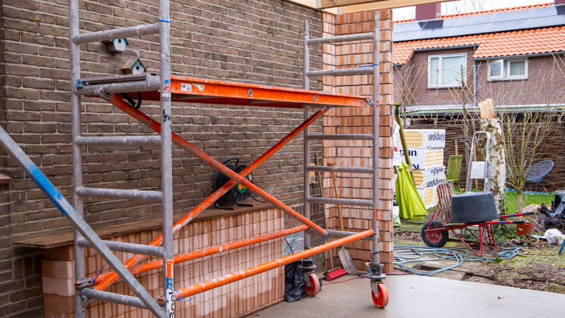 Aanbouw, Muntweg, Nijmegen, door, bouwbedrijf Sannij